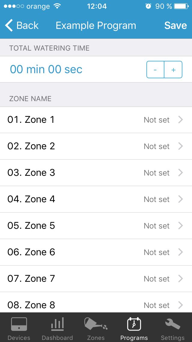Edating zones by level